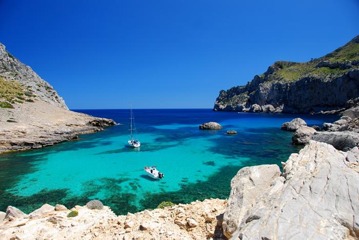 A bay in Mallorca