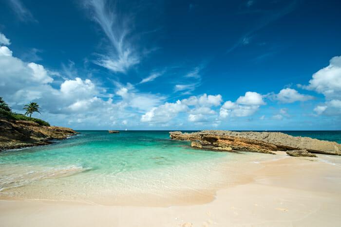 Anguilla island sandy beach