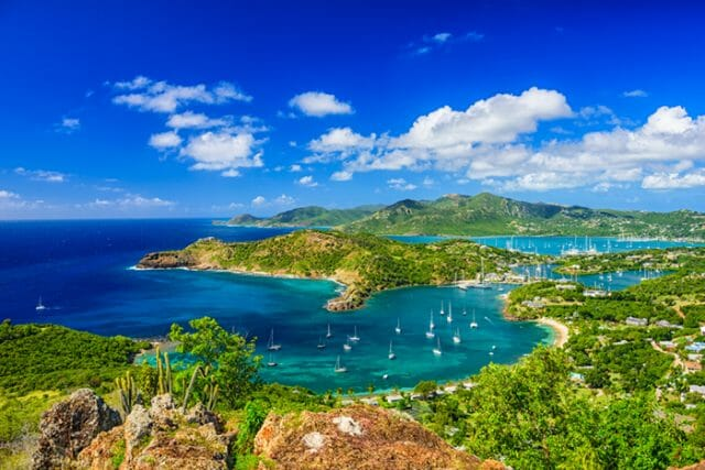 Antigua view of English Harbour
