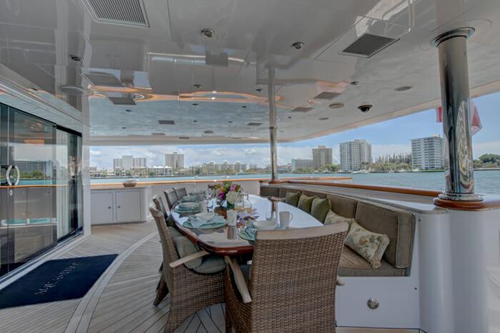 Aquasition aft deck dining