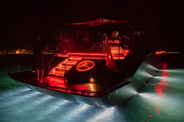 Ascari 1 lights at night