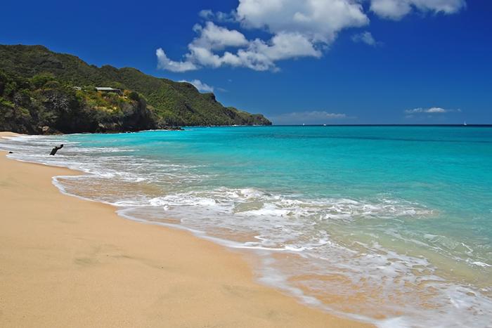 Beach on Carricaou island