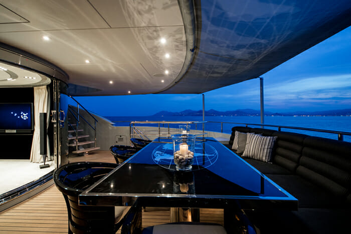 Bliss Aft Deck Dining