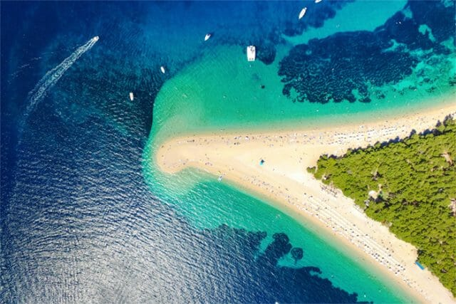 Brac Island Zlatni Rat beach