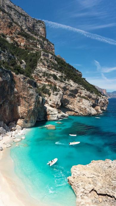 Mediterranean coast - private yacht sailing