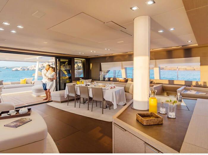 Catamaran Joy - dining