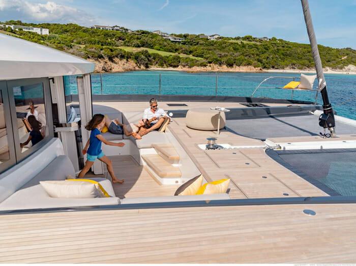Catamaran Joy - forward deck
