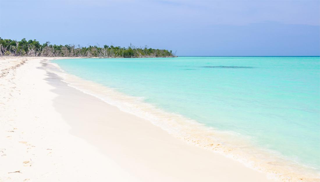 Cayo Levisa beach in Cuba