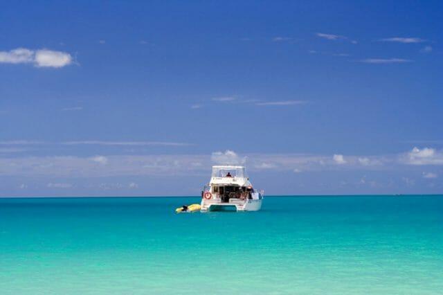 Crystal clear water in Bimini