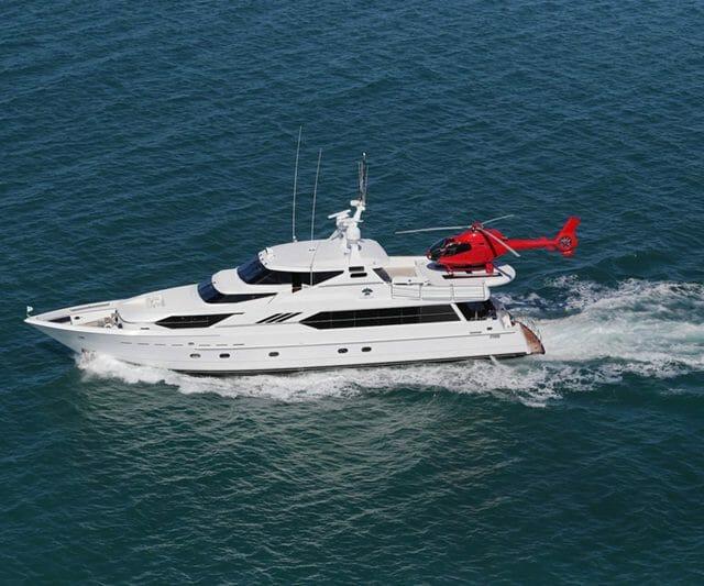 Flying Fish Yacht with Helipad