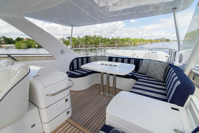 Forever 5 Flybridge Table and Seating