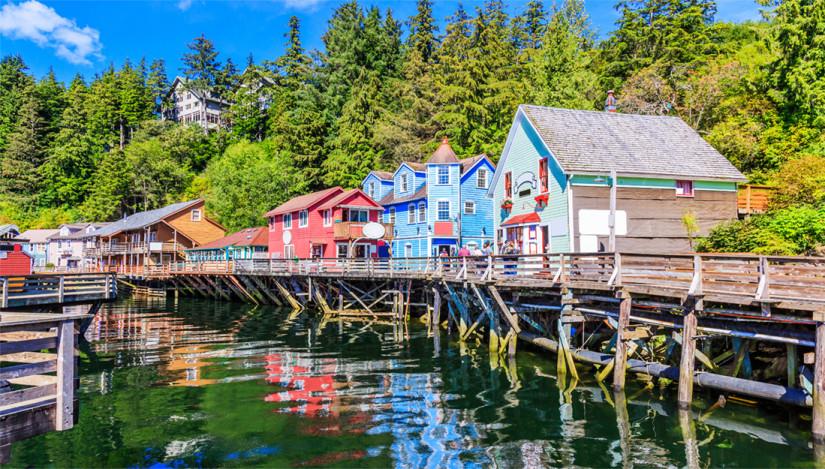 Houses in Ketchikan Alaska