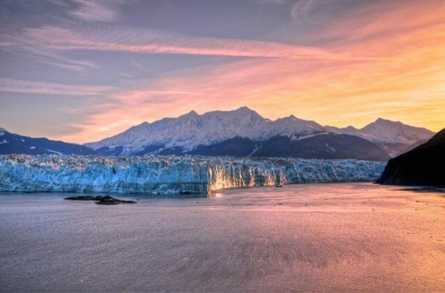 Hubbard Glacier sunrise