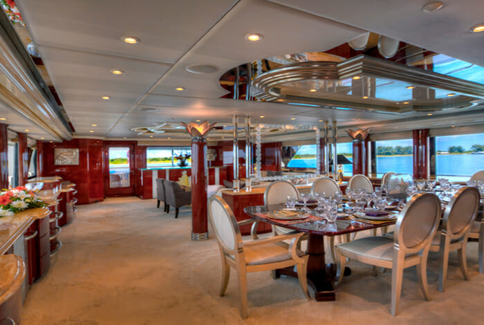 I Love This Boat Dining