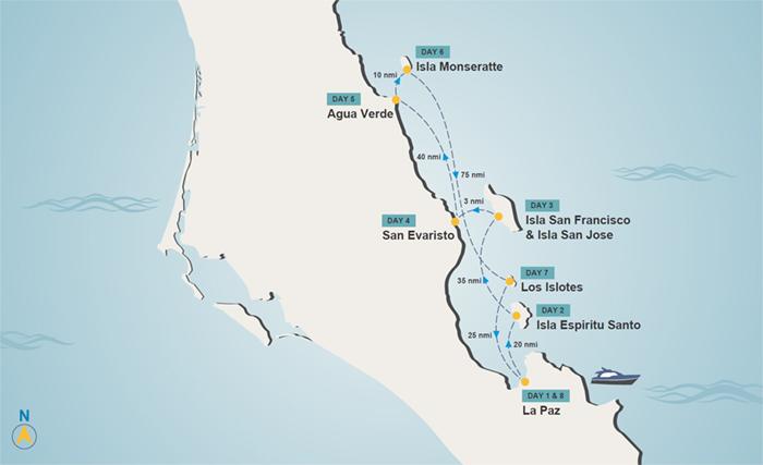 Mexico yacht charter itinerary