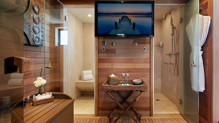 Mia Elise II Sundeck Steam Room