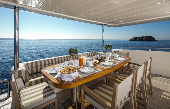 Mythos Aft Deck Dining