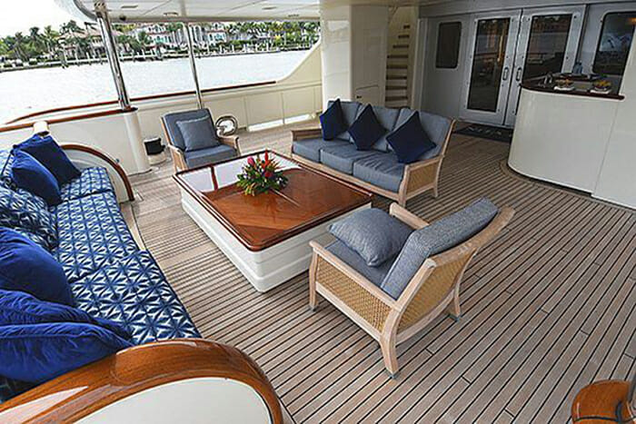 Nita K II Aft Deck Seating