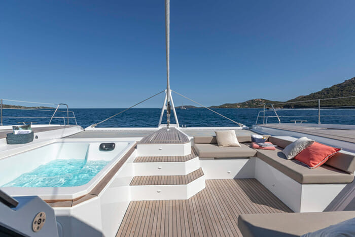 Number One Forward Deck Jacuzzi
