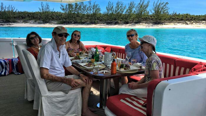 Pegasus IX Aft Deck Dining