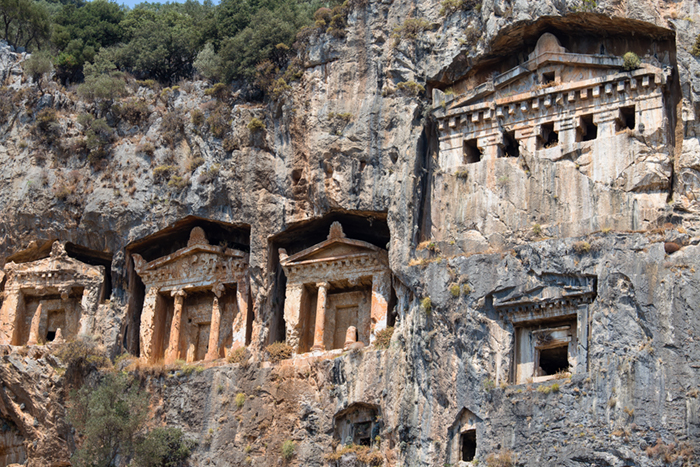 Rock tombs in Fethiye