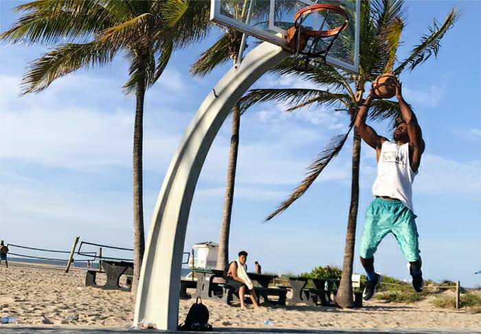 Rod playing basketball