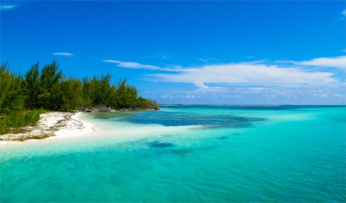 Sandy beach in Cuba