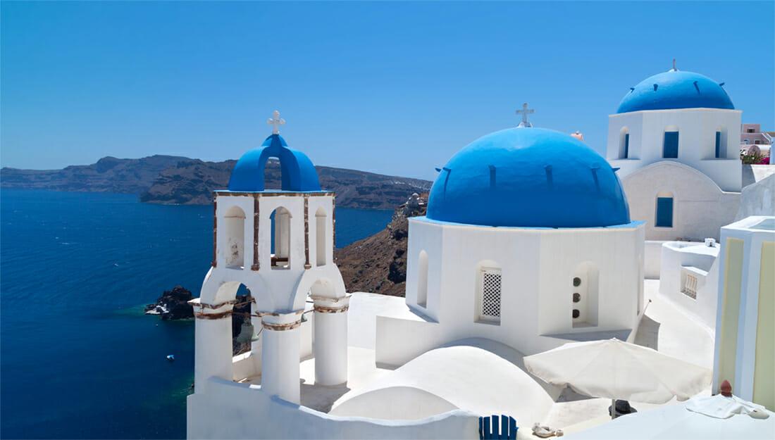 Santorini white houses