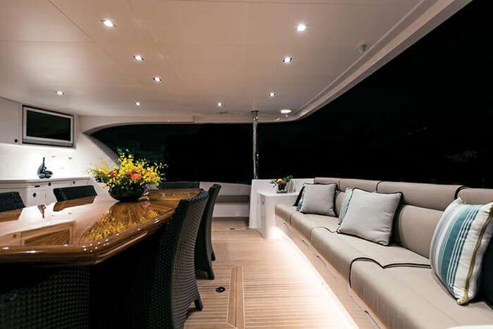 Seaglass Aft Deck Seating