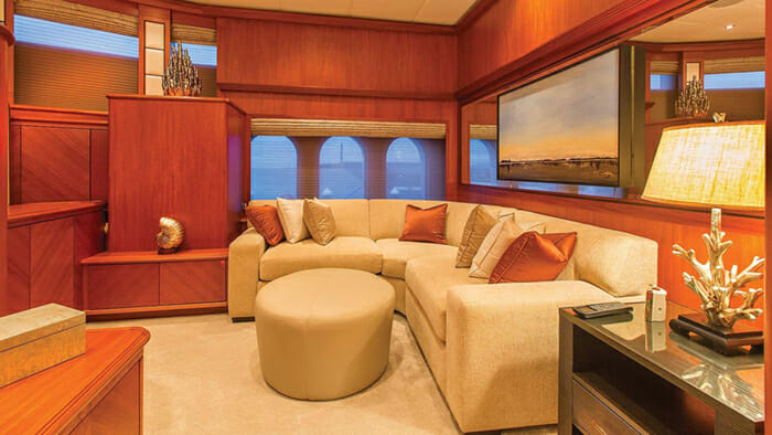 Skyfall Master Cabin Lounge Area