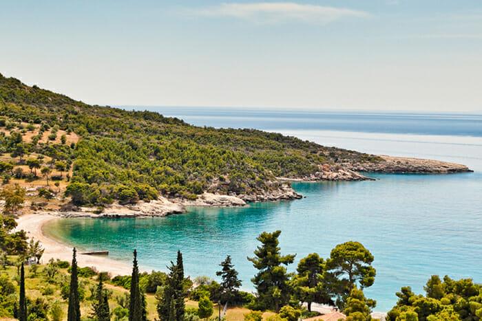 Spetses beach