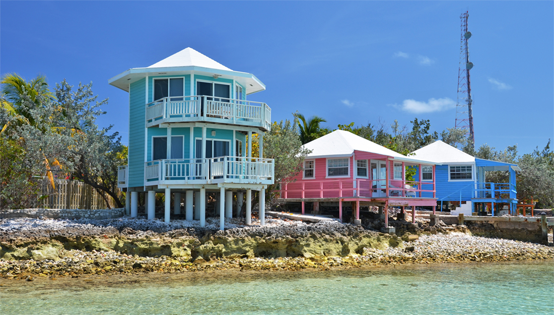 Staniel Cay painted houses