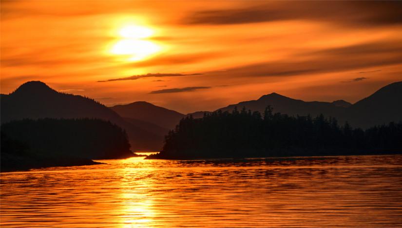 Sunset in Frederick Sound Alaska