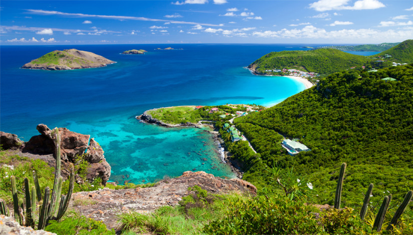 The island of St Barts