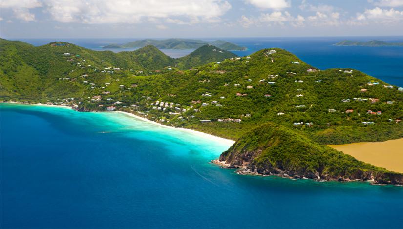 Tortola hills and bays