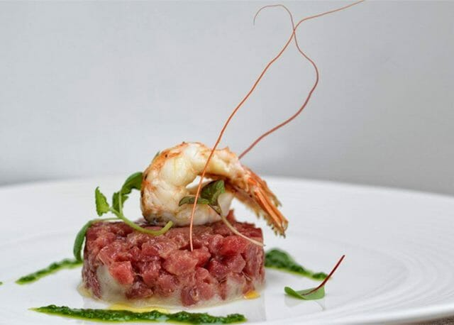 Winning dish from Chef Andrea Vercelli of yacht Plan B