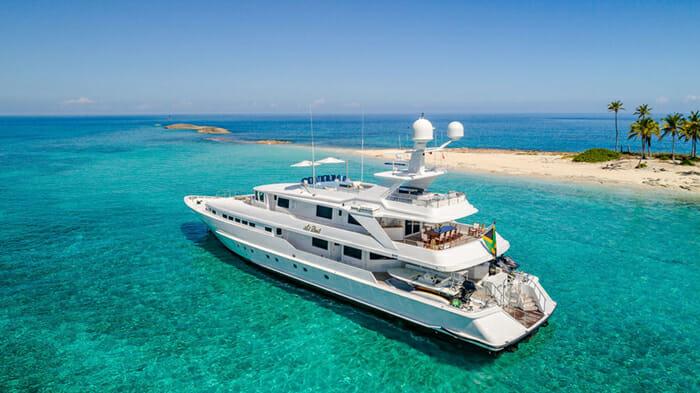 Yacht At Last At Anchor