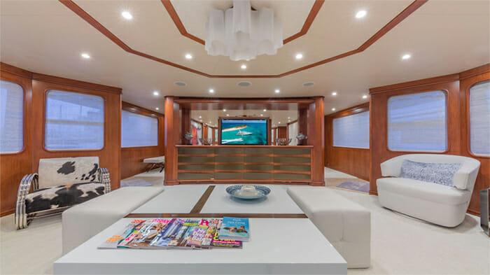 Yacht At Last Salon looking forward