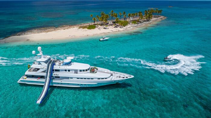Yacht At Last Slide and Jetski
