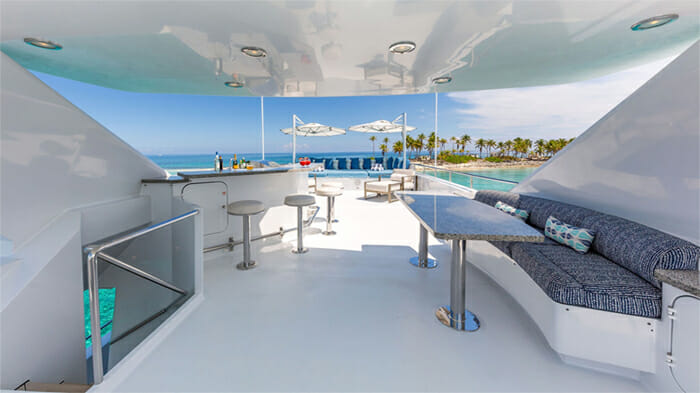 Yacht At Last Sundeck Covered Area