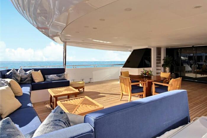 Yacht Balista Aft Deck