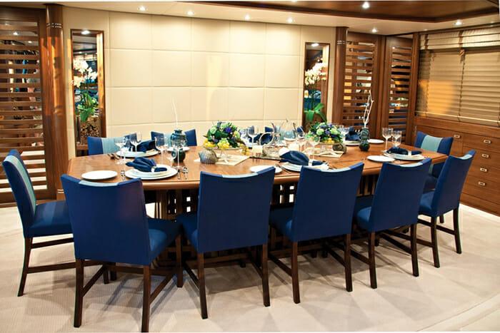 Yacht Balista Dining