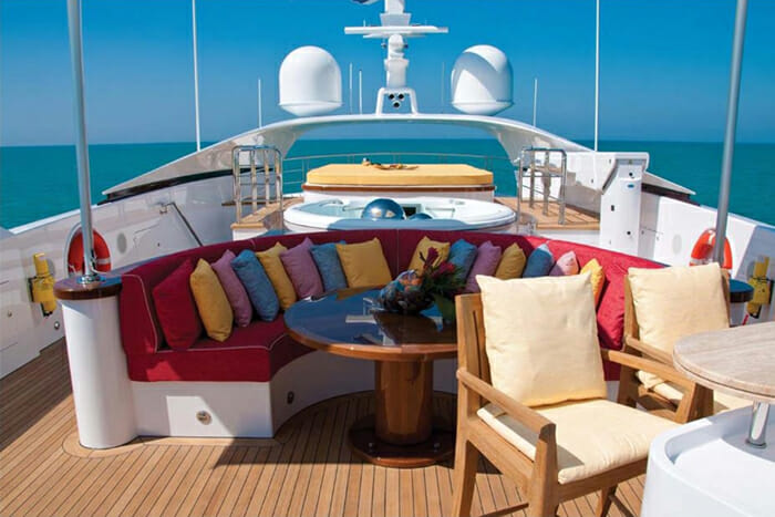 Yacht Balista Sundeck Seating