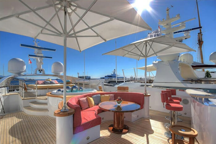 Yacht Balista Sundeck and Bar