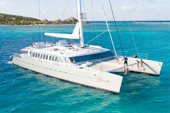 Yacht Bella Vita Front View