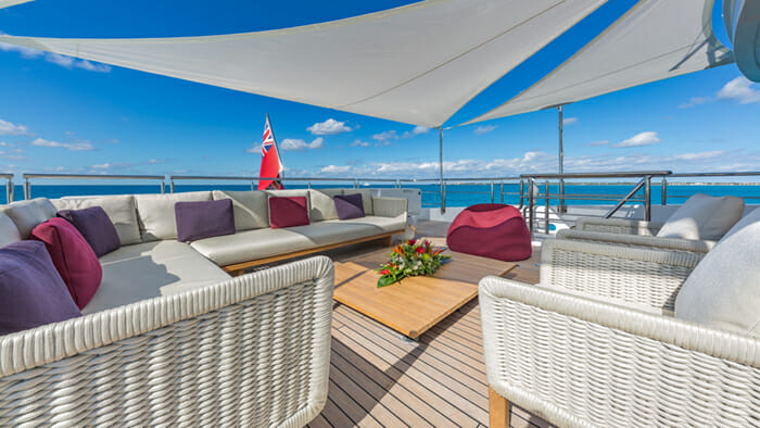Yacht Big Sky Bridge Deck Aft