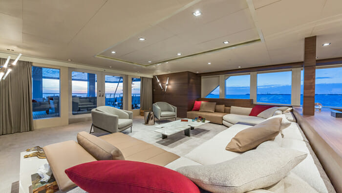Yacht Big Sky Salon Looking Aft