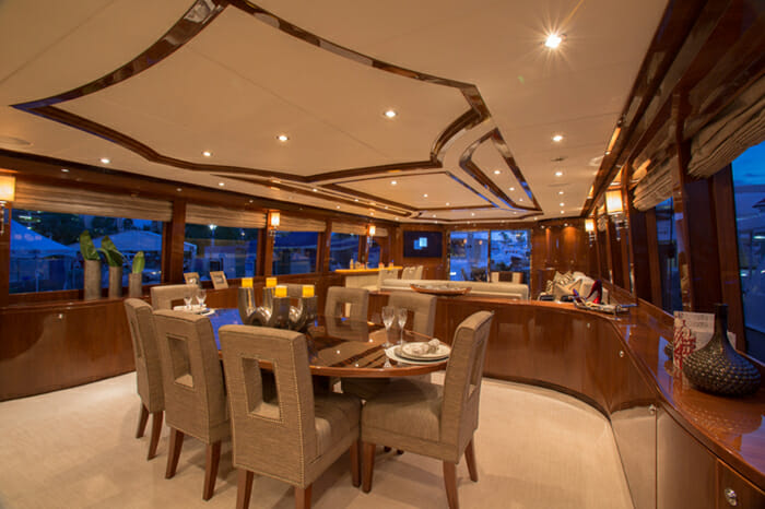 Yacht Carbon Copy dining