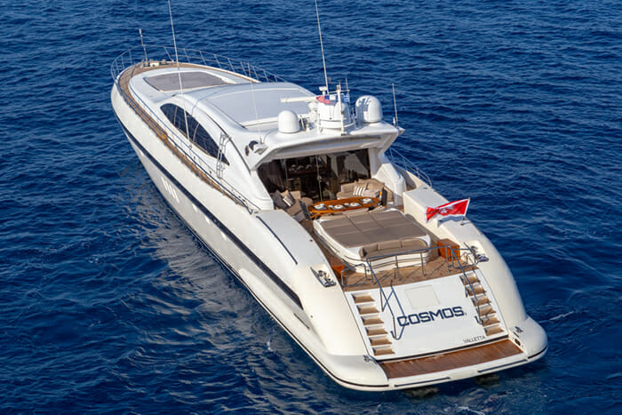 Yacht Cosmos I aft view