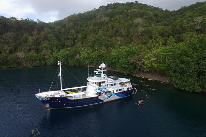 Yacht Dardanella at anchor